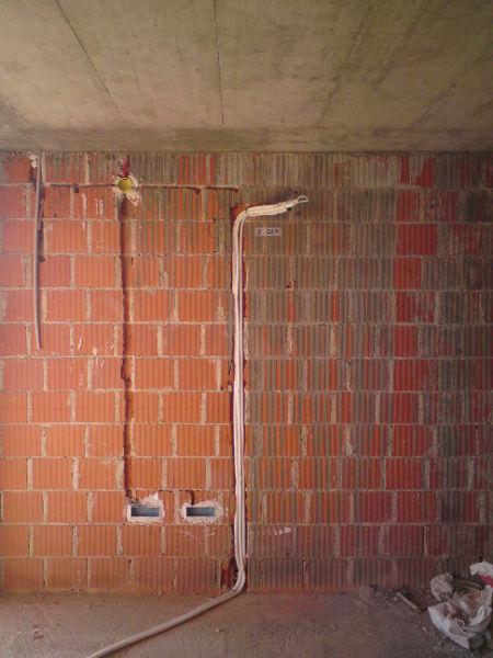 polaganje instalacije podžbukno prva faza šlicanje štemanje proboj