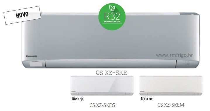 panasonic klima uređaji etherea xz bijela siva mat sjajna